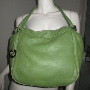 Donald J Pliner Lime Green Leather Purse